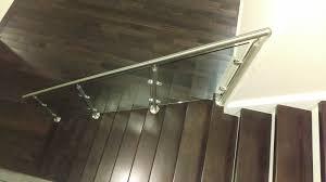 chrome banister rails glasspros ca residential custom railings