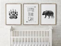 Grey And Pink Nursery Decor by Baby Boy Nursery Decor Bear Cave Grey Little Bear Bear