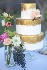 wedding cake gold metallic wedding cakes brides