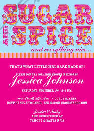 sugar and spice baby shower sugar and spice baby shower invites cimvitation