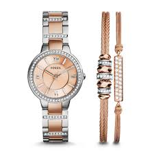 bracelet watches fossil images Virginia bracelet set stainless steel watch fossil