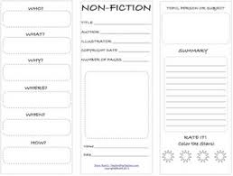 this free worksheet is best used with non fiction books