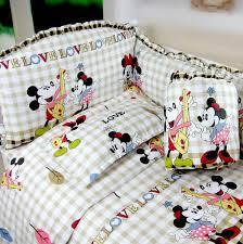Minnie Crib Bedding Set 5 Pcs Baby Crib Bedding Sets Baby Crib Bedclothes Baby Bedding