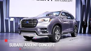 tribeca subaru 2016 subaru ascent three row suv set for 2018 launch autoblog