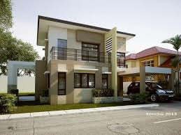 two storey home design with extraordinary view design
