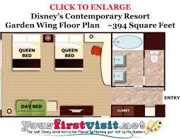 Disney Cruise Floor Plans The South Garden Wing At Disney U0027s Contemporary Resort