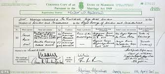 register wedding william and kate their secret marriage certificate daily mail
