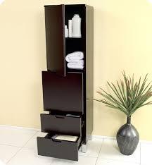 Bathroom Linen Storage by Espresso Bathroom Linen Cabinet 4 Storage Areas