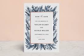 save the date cards cheap garden of foil pressed save the date cards by elly minted