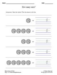 coin identification worksheet basic handwriting for mathematics money math united