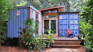small house created from recycled shipping containers youtube