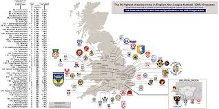 England On Map Football Teams In England Map London Map