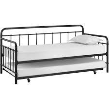 bedroom black metal daybed with trundle walmart daybed frame