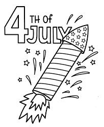 fireworks pages printable design fireworks rocket coloring page