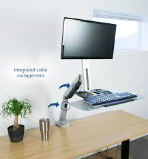 Ergonomic Sit Stand Desk Stand Sit1s Vivo Single Monitor Keyboard Counterbalance Sit