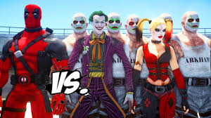 deadpool vs joker u0026 harley quinn epic superheroes battle death