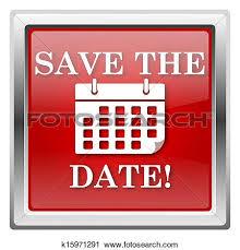 save the date calendar clipart
