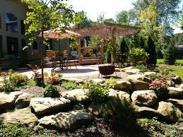 natural stone paver entertaining areas cutting edge landscape