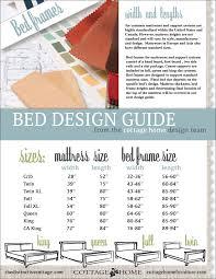 Bed Frame Sizes Design Guide Bed Frame Sizes The Distinctive Cottage