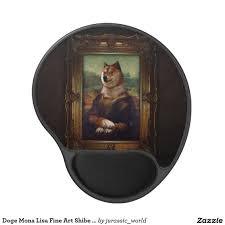 doge mona lisa fine art shibe meme painting gel mouse pad dogs