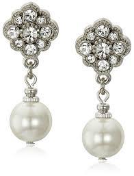drop earrings wedding 1928 bridal simulated pearl drop earrings jewelry