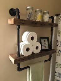 Rustic Industrial Bathroom by 3 Level Rustic Bookshelf Industrial Pipe And Wood Shelf Vintage