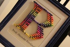 b is for brody how to make a crayon monogram frame life write now