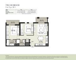 hayat boulevard by nshama 1 bedroom apartment type 1a 6 floor plan