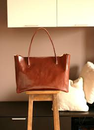 Handmade Leather Tote Bag - handmade leather bag leather everyday bag by creazionidiangelina