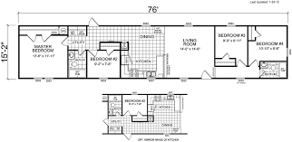 four bedroom floor plans 4 bedroom mobile home plans large manufactured homes floor 6 3