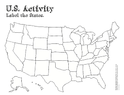 Usa Map With Names by Northeastern Us State Capitals To Label Us States Notebook Free