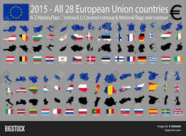 Flags Of Countries In Europe 2015 All 28 European Union Vector U0026 Photo Bigstock