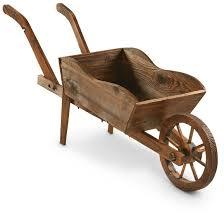castlecreek wooden cart planter 657793 decorative accessories