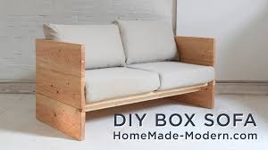 homemade modern diy sofa made out of 2x10s youtube