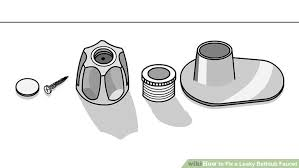 How To Change Faucet In Bathtub How To Fix A Leaky Bathtub Faucet With Pictures Wikihow