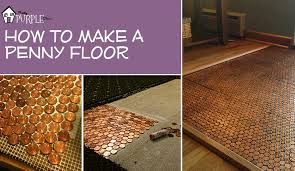 how to a floor out of pennies with a floor