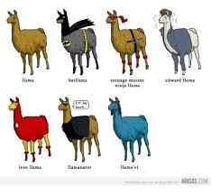 Llama Meme - llama iron llama bat llama i ll be back llamanator edward llama