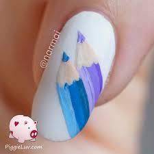 piggieluv 3d pencil skirt nail art