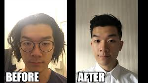 man bun to pompadour haircut transformation before and after youtube