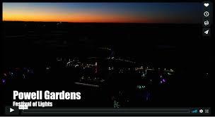 festival of lights illuminated by kcp l powell gardens kansas