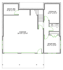 baby nursery house plans bungalow open concept one level floor
