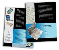 single page brochures design for computer hardware offset or