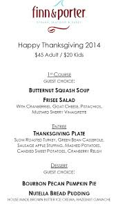 dining out with rob balon finn porter thanksgiving menu 2014