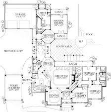 Mediterranean Floor Plans With Courtyard 72 Best Floor Plans Images On Pinterest Architecture Dream