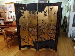 mid century room divider chinese mid century four panel screen room divider biombos