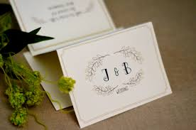 tri fold wedding invitations floral leaf with monogram trifold wedding invitation with online