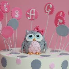 owl cake toppers baby shower girl owl cake topper sweet memories bakery