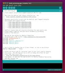 software arduino gps clock adafruit learning system