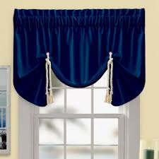 Blue Swag Curtains Buy Navy Blue Valances From Bed Bath Beyond