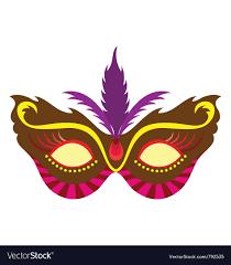 madi gras masks mardi gras mask royalty free vector image vectorstock